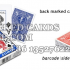 infrared ink marked decks of cards